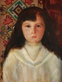 Portret dziewczynki w zakopiańskiej ramie, 1901 r.