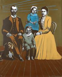 Portret rodzinny z psem, 1990 r.
