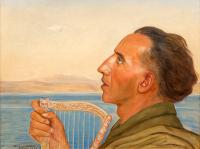Portret mężczyzny z harfą, 1943 r.