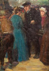 Spotkanie /Portret kobiety (obraz dwustronny)