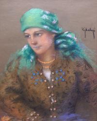 Dziewczyna w stroju łemkowskim