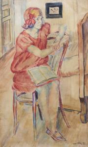 Dziewczyna na krześle, 1925 r.