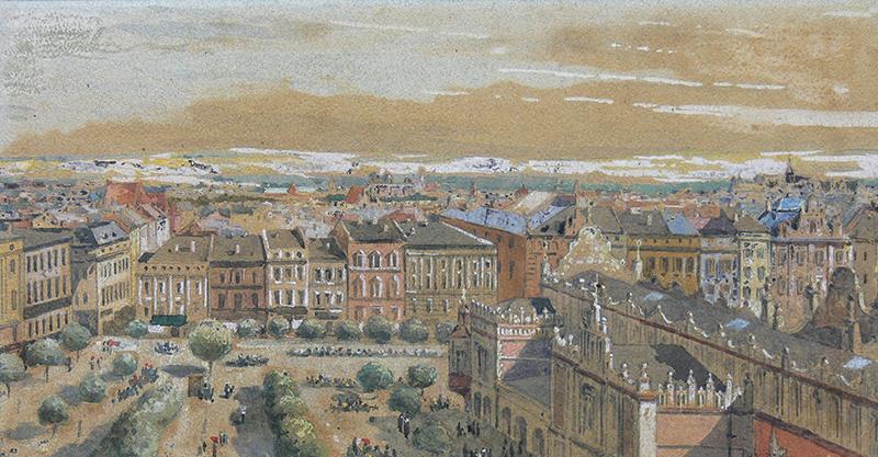 Widok Rynku Głównego w Krakowie