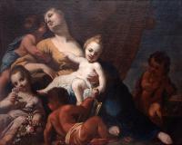 Caritas z alegorią pięciu zmysłów