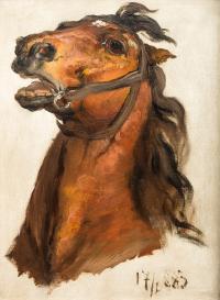 Głowa konia króla J.Sobieskiego do obrazu Sobieski pod Wiedniem, 1883 r.