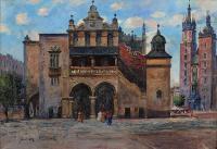 Widok na Sukiennice i kościół Mariacki w Krakowie