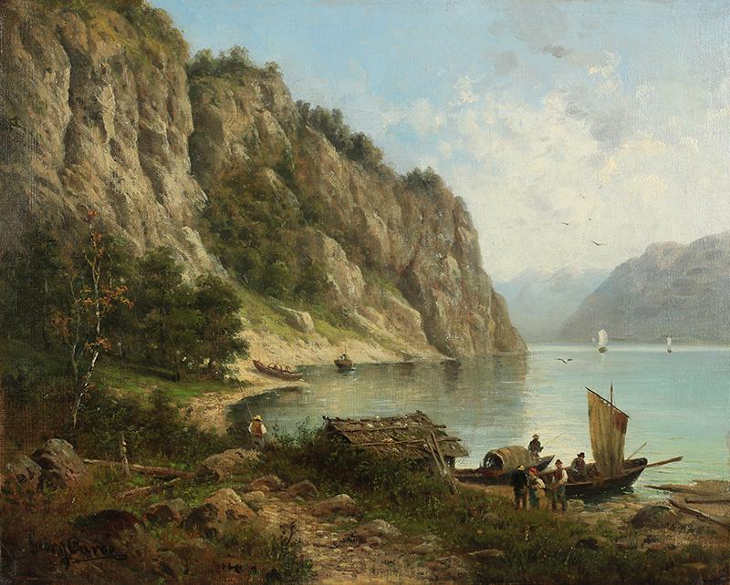Pejzaż z fiordami