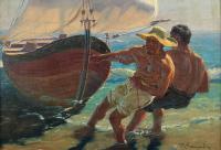 Wyciąganie łodzi