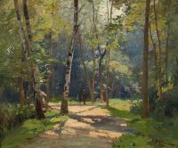 Spacer w parku, 1911 r.