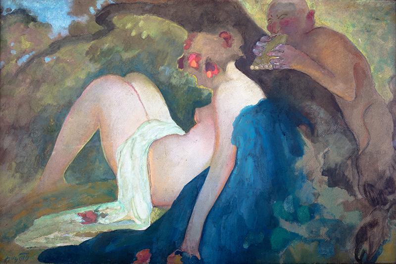 Nimfa i satyr, 1919 r.