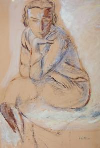 Siedząca (praca dwustronna)