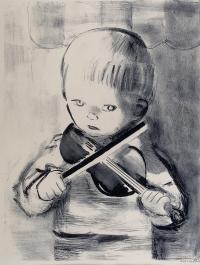 Chłopiec ze skrzypcami