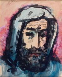 Portret mężczyzny w kapturze