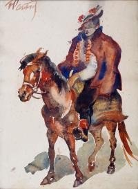 Hucuł na koniu