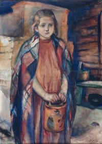 Dziewczynka w chuście, 1910 r.