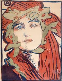 """Plakat II Wystawy Towarzystwa Artystów Polskich """"Sztuka"""", 1898 r."""