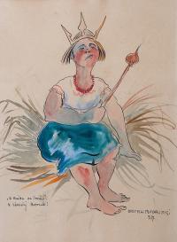 """A Kaśka na tronie"", 1927 r."