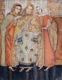 Trzy kobiety, 1936 r.