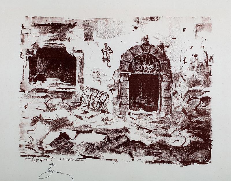 Ul. Świętojańska, z teki Ruiny Starej Warszawy z 1945 r.