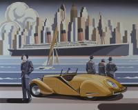 Kobieta i żółte Bugatti, 2018