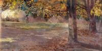 Pejzaż z drzewami (Wielgie), 1895 r.