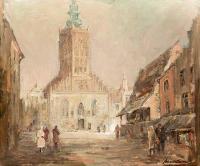 Widok na kościół św. Katarzyny w Gdańsku