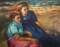 Dwie kobiety na plaży