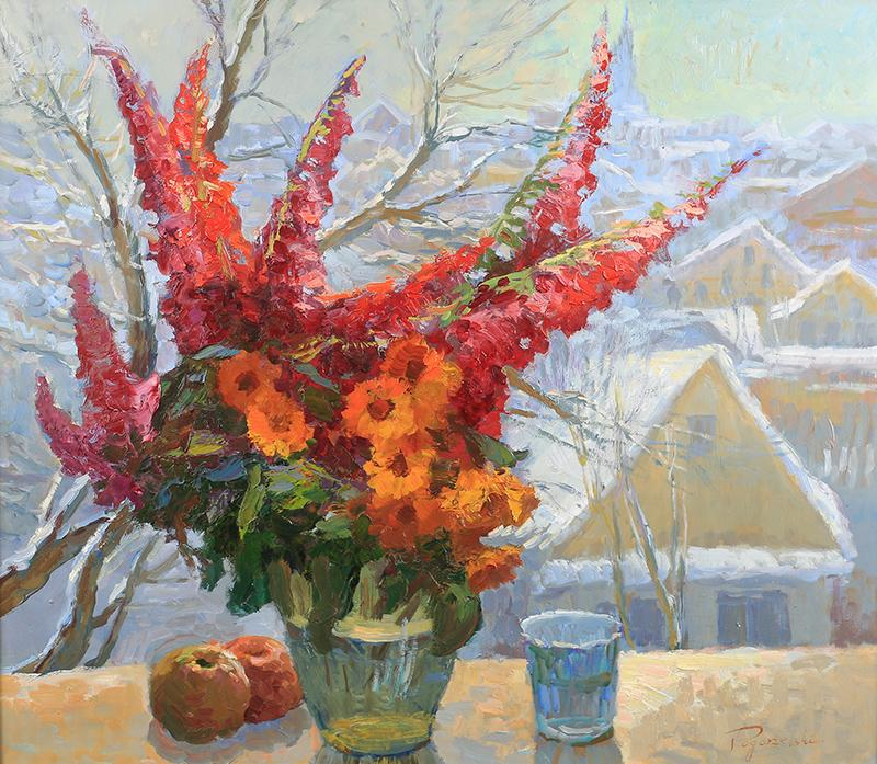 Kwiaty w oknie