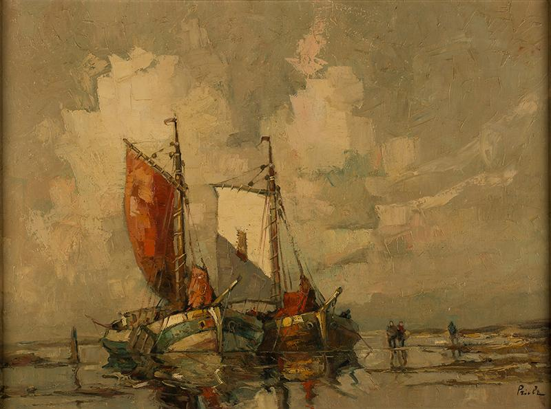 Dwie łodzie na brzegu
