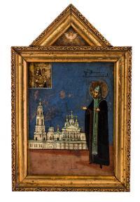 Ikona - Świety Teodozjusz z Tot'my poł. XIX w.