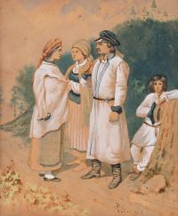 Wieśniacy z okolic Sandomierza, 1854 r.