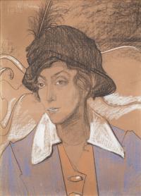 Portret Wandy Marii Skarżyńskiej, z d. Romm, 6 I 1917 r.