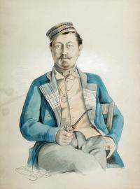 Portret Adama Hr. Potockiego z Buczacza, 1849 r.