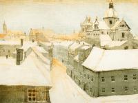 Widok z Wawelu na Kraków, 1911 r.