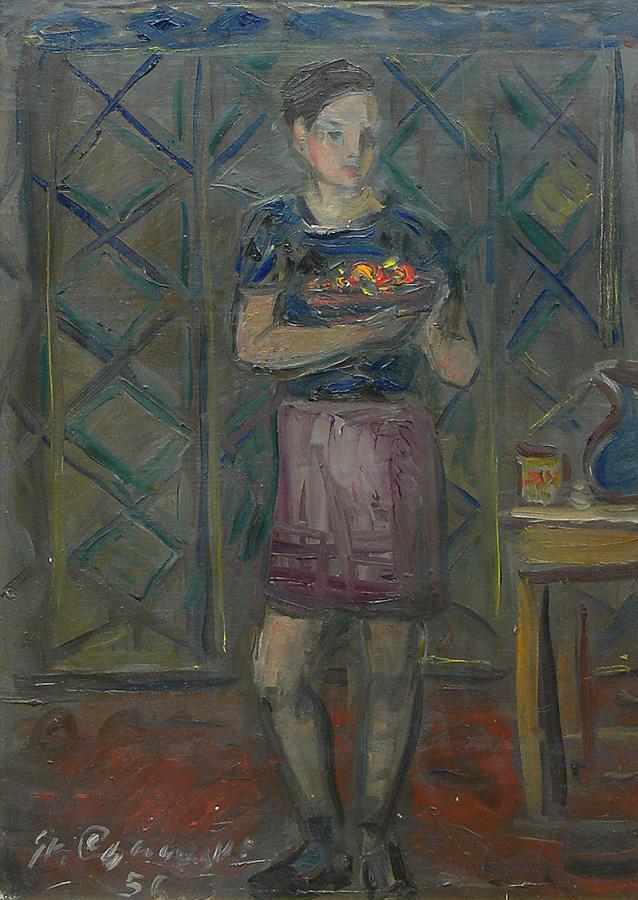 Dziewczyna we wnętrzu, 1956 r.