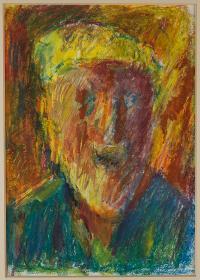 Autoportret w żółtym kaszkiecie, 1999 r.