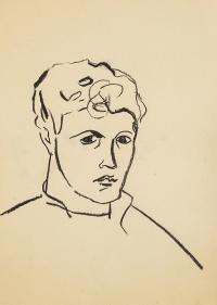 Portret, lata 50. XX w.