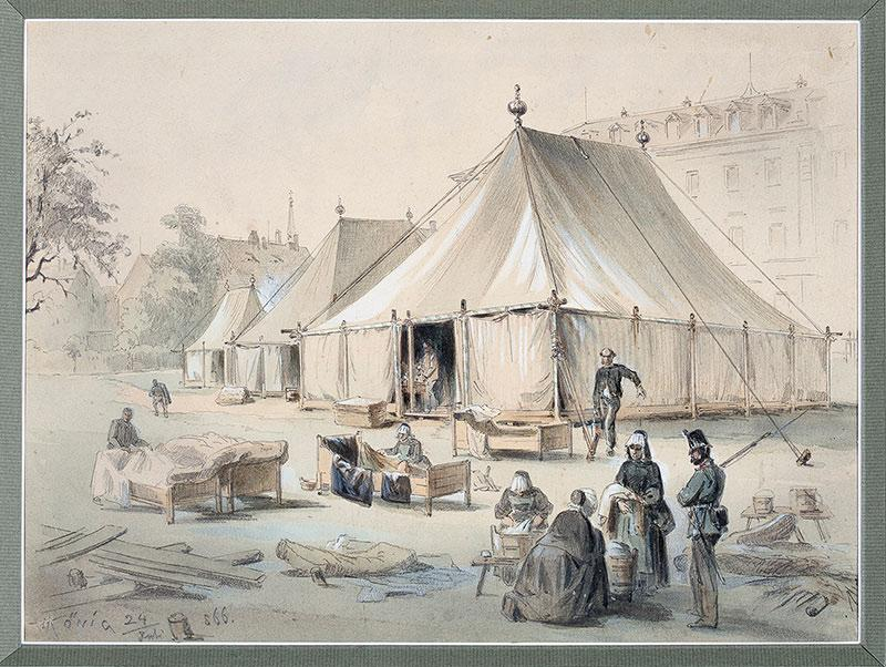 Szpital polowy, 1886 r.