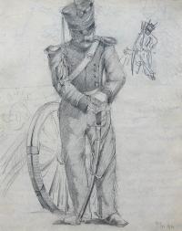 Stary wiarus – studium artylerzysty, 1894 r.