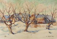 Wieś zimą