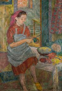 Obieranie jarzyn, 1950 r.