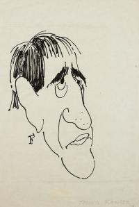 Karykatura Tadeusza Kantora