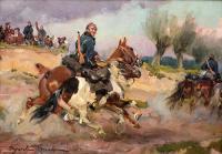Żołnierz z luzakiem, 1921 r.