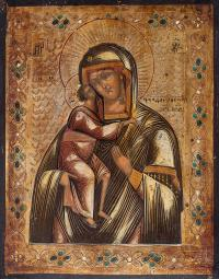 Ikona Matki Bożej Fiodorowskiej Rosja, 2 poł. XIX w.