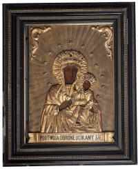 Ikona Matki Boskiej Częstochowskiej Lwów, 2 poł. XIX w.