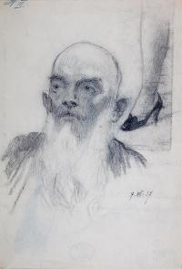 Portret mężczyzny z brodą, 1937 r.