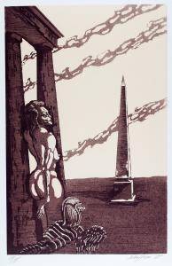 Kobieta ze sfinksem, 1985 r.