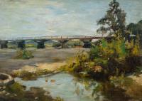 Most na Skawie koło Zatora, ok. 1900 r.