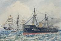 Scena batalistyczna na morzu, 1870 r.