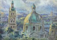 Panorama Lwowa (Widok na kościół Dominikanów)